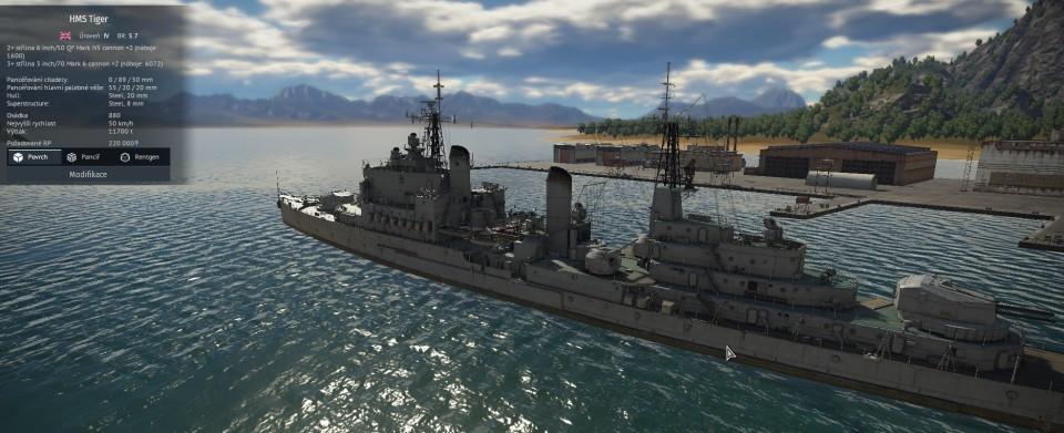 HMS Tiger přistál